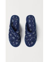 H&M H & M Home Slippers - Blue