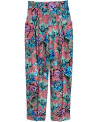 H&M Patterned Trousers - Brown