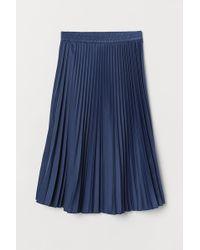 H&M Plissierter Jupe - Blau