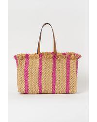 H&M Straw Shopper - Pink