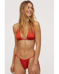 H&M Tie Tanga Bikini Bottoms - Orange
