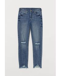 H&M Girlfriend Regular Jeans - Blau