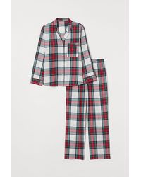 H&M Flannel Pyjamas - Red