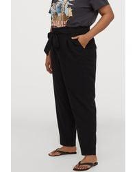 H&M + Paper-bag Pants - Black