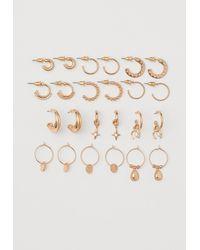 H&M 12-pack Earrings - Metallic