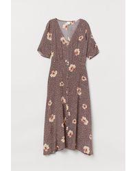 H&M Calf-length Dress - Brown