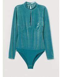 H&M Body Met Lange Mouwen - Blauw