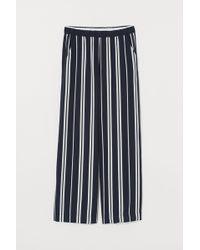 H&M Pantalon à taille élastique - Bleu