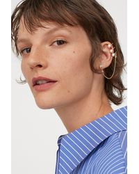 H&M Earring With Ear Cuff - Multicolor