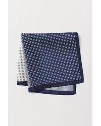H&M Pochette en soie - Bleu