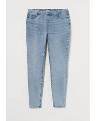 H&M H & M+ Skinny Regular Jeggings - Bleu