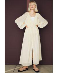 H&M Long Chiffon Dress - Yellow