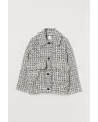 H&M Jacke mit Strukturstoff - Weiß