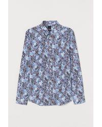 H&M Easy Iron-overhemd - Blauw