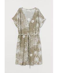 H&M Kleid aus Leinenmix - Grün