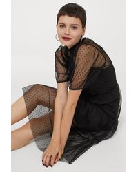 H&M Mesh Dress - Black