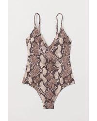 H&M V-neck Swimsuit