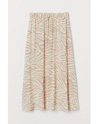 H&M Patterned Skirt - Natural