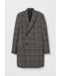 H&M Double-breasted Wool-mix Coat - Black