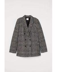 H&M Double-breasted Blazer - Zwart