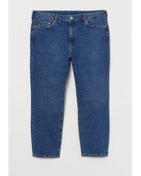 H&M H & M+ Vintage Slim Ankle Jeans - Blue