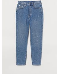H&M Mom High Ankle Jeans - Blauw