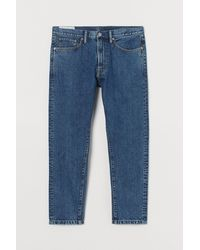 H&M Regular Tapered Cropped Jeans - Blauw