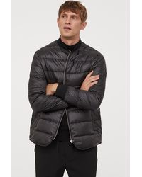 H&M Quilted Down Jacket - Black
