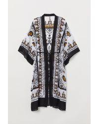 H&M Gemusterter Kimono - Weiß