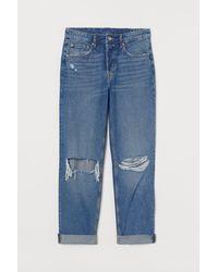 H&M Boyfriend Regular Jeans - Blauw