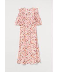 H&M Lyocell-blend Dress - Pink