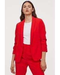 H&M Shawl-collar Jacket - Red