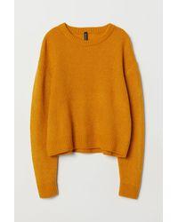 H&M Rib-knit Jumper - Yellow