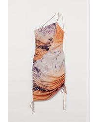 H&M Drapiertes Kleid - Orange