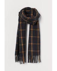 H&M Geruite Sjaal - Zwart