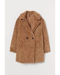 H&M Teddy Coat - Natural