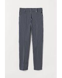 H&M Cigarette Trousers - Blue