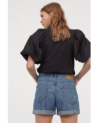 H&M Denim Shorts Boyfriend - Blue
