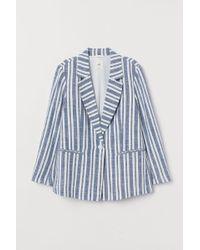 H&M - Linen-blend Jacket - Lyst
