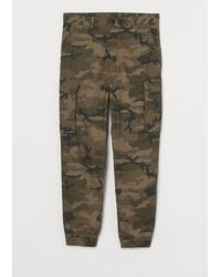 H&M Cargo Pants Relaxed Fit - Green