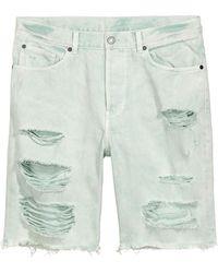 H&M Denim Short Trashed - Groen