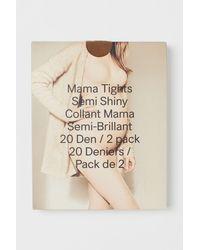 H&M MAMA 2-Pack Strumpfhosen 20den - Natur