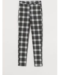 H&M - Twill Trousers - Lyst