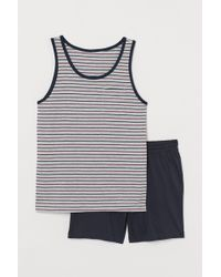 H&M Schlaftop und Shorts - Pink
