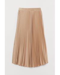 H&M Mama Pleated Skirt - Natural