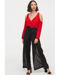 H&M - Trousers With High Slits - Lyst
