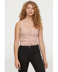 H&M - Vest Top With Press-studs - Lyst