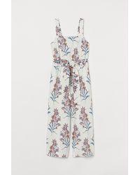 H&M - Linen-blend Jumpsuit - Lyst