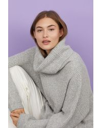 H&M - Ribbed Turtleneck Sweater - Lyst