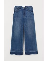 H&M Cropped High Jeans - Blauw